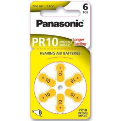Panasonic Zinc-Air PR10 6-pack