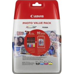 Canon CLI-551 XL C/M/Y/BK Photo Value Pack