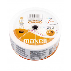 MAXELL DVD+R 8.5GB Dual layer 25-pack printable