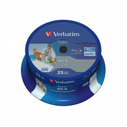 VERBATIM BLU-RAY 25GB 6X 25-pack printable cake box