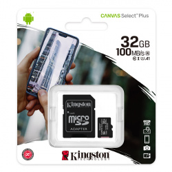 Kingston Canvas Plus microSDHC with adapter 32GB Class 10/UHS-I SDCS/32GB