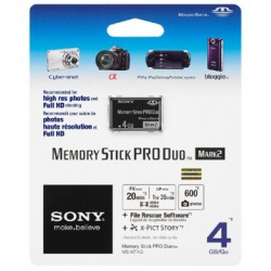 Sony Memory Stick PRO DUO 4 GB