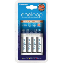 Panasonic Eneloop Smart & Quick Charger BQ-CC16 + 4 AA 1900