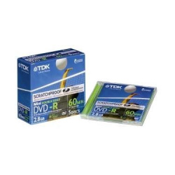 TDK DVD-R 60 2.8GB  slim case