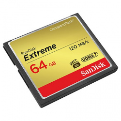 SanDisk Compact Flash Card 64 GB Extreme 120 MB/s
