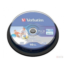VERBATIM BLU-RAY 25GB 6X 10-pack printable cake box