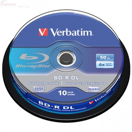 VERBATIM BLU-RAY 50GB 6X 10-pack cake box