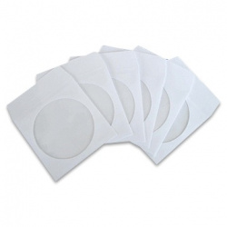 CD paper sleeves, white, with window 100-pack