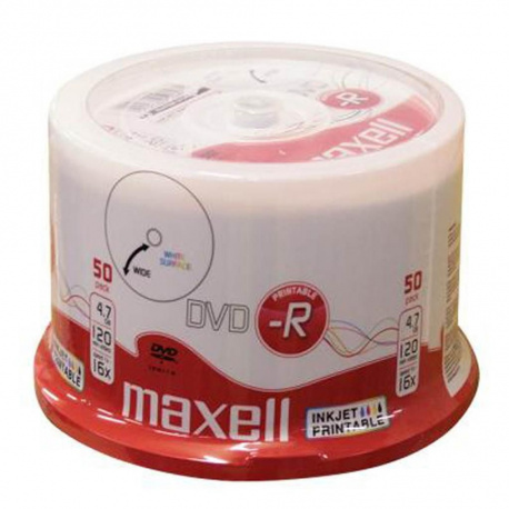 MAXELL DVD-R 4.7GB 16X printable 50-pack cake box