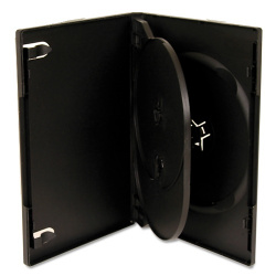 DVD CASE for 4 dvds black 14mm