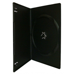 DVD CASE single black slim  7mm