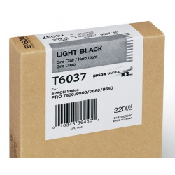 EPSON T 6037 LIGHT BLACK