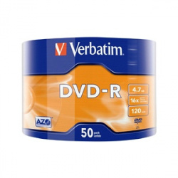 VERBATIM DVD-R 4.7GB 16x 50-pack wrap